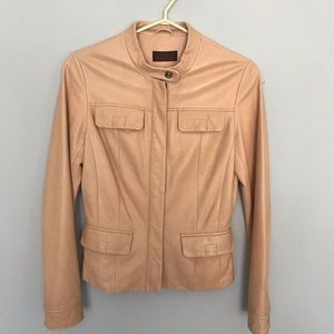 Danier Classic Camel Leather Jacket